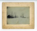 Farmstead snow scene, Butler County, Kansas - front