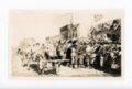 Mule-drawn wagon, Kaffir Corn Carnival Parade, El Dorado, Butler County, Kansas - front