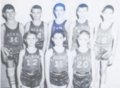 Arcadia mining camp, Crawford County, Kansas - School Basketball Team, Arcadia, KS, Early 1960s