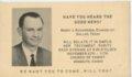 Monmouth, Crawford County, Kansas - Religious Announcement, Bobby Richardson,