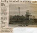 Radley, Kansas - Radley Coal Mine