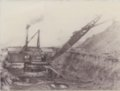 Chicopee mining camp, Crawford County, Kansas - Ellsworth & Kraner Shovel, South of Chicopee, KS, **Note Smoke from Steam Engine**