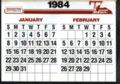 Hesston 1984 calendar - 3