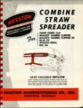 Combine straw spreader flyer