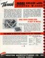 Combine Cylinder V-Bars equipment flyer, Hesston, Kansas - back