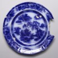 Flow Blue Plate from Quindaro - 1