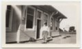 Albert Walker Irion at the Union Pacific depot, Axtell, Kansas - 3