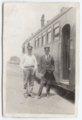 Albert Walker Irion at the Union Pacific depot, Axtell, Kansas - 5
