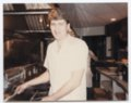 Robert Titus working at Chicken Annie's Original restaurant, Frontenac, Kansas