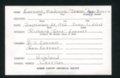 Highland Cemetery interment cards E - 3
