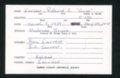 Highland Cemetery interment cards E - 5
