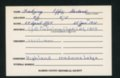 Highland Cemetery interment cards F - 1