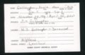 Highland Cemetery interment cards G
