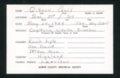 Highland Cemetery interment cards G - 7