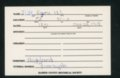 Highland Cemetery interment cards I - 9