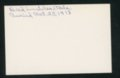 Highland Cemetery interment cards I - 10
