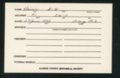 Highland Cemetery interment cards K - 7