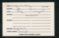 Highland Cemetery interment cards M