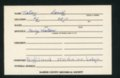Highland Cemetery interment cards N
