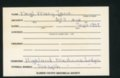 Highland Cemetery interment cards N - 7