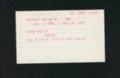 Highland Cemetery interment cards S - 7