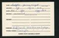 Highland Cemetery interment cards S - 11