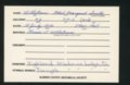 Highland Cemetery interment cards U - 5