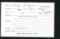 Highland Cemetery interment cards V - 5