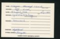 Highland Cemetery interment cards V - 7
