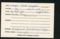 Highland Cemetery interment cards V - 9