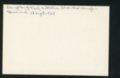 Highland Cemetery interment cards V - 10
