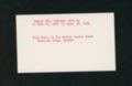 Highland Cemetery interment cards V - 11