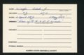 Highland Cemetery interment cards W