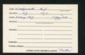 Highland Cemetery interment cards W - 11