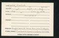 Highland Cemetery interment cards XYZ - 5