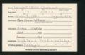 Highland Cemetery interment cards XYZ - 9