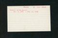 Highland Cemetery interment cards XYZ - 11