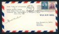 Female Aviator Amelia Earhart, autographed envelope