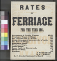 Rates of Ferriage in Kansas Territory