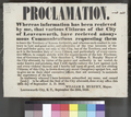 Leavenworth, Kansas Territory, proclamation