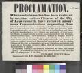 Leavenworth, Kansas Territory, proclamation