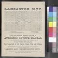 Lancaster City brochure, Atchison County - p. 1