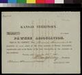 Pawnee Association, town share certificate