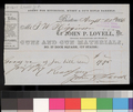 Receipt, John P. Lovell to Thomas W. Higginson - p. 1