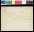 Receipt, B. B. Newton to Thomas W. Higginson