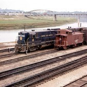 Norfolk & Western transfer cut, Argentine, Kansas