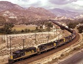 General merchandise train, Cajon Pass, California