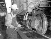Atchison, Topeka and Santa Fe Railway Company yard, Argentine, Kansas