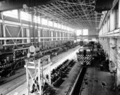 Atchison, Topeka and Santa Fe Railway Company's high bay shop, Argentine, Kansas