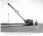 Atchison, Topeka, and Santa Fe locomotive crane #112